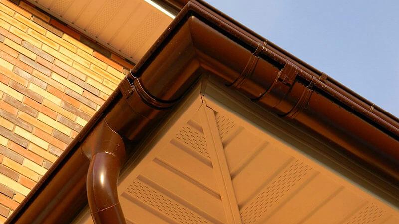 Металлическая водосточная система Премиум Grand Line 125x90 Granit