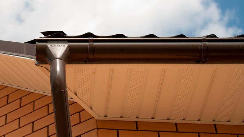 Металлическая водосточная система Премиум Grand Line 150x100 Granit